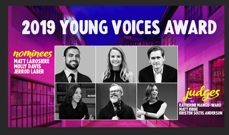 Announcing Finalists for the Young Voices Award